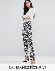 Alter Tall , Pyjama Style Trouser In Floral Print