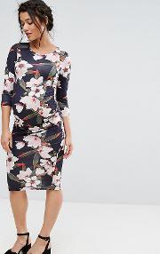 Bluebelle Maternity , Floral Print Bodycon Dress