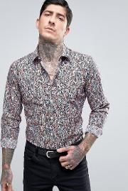Devils Advocate , Abstract Slim Fit Shirt