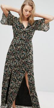 Influence Tall , Maxi Dress With Split Front
