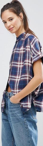 Only , Batwing Check Shirt