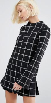 Selected , Tunic Top In Check