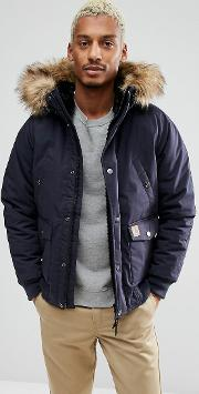 Carhartt Wip , Trapper Jacket With Corduroy Elbow Patches
