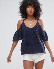 Dra , D.ra Culver City Cold Shoulder Blouse