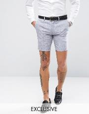 Only & Sons , Skinny Shorts  Linen