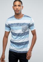 Only & Sons , T Shirt With Pocket And Stripe