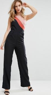Little Mistress , Colour Block Jumpsuit