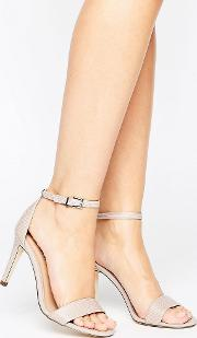 Call It Spring , Ahlberg Blush Two Part Heeled Sandals
