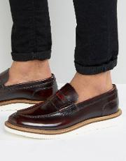 Base London , Milo Leather Penny Loafers