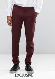 Only & Sons , Skinny Suit Trousers  Marl
