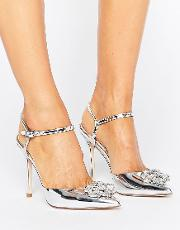 Asos , Peppermint Embellished Pointed High Heels