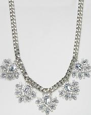 True Decadence , Rhinestone Flower Necklace