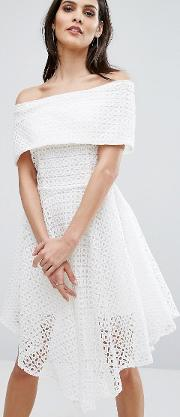 8th Sign , The Broderie Anglaise Bardot Dress