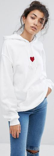 Adolescent Clothing , Red Heart Hoody