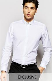 Hart Hollywood , By Nick Hart Shirt With Curve Collar In Slim Fit