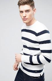Only & Sons , Knitted Jumper With Stripe