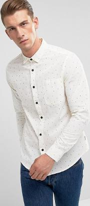 Only & Sons , Shirt In Slim Fit All Over Ditsy Print