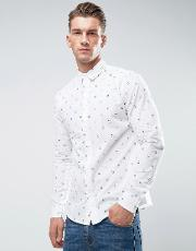 Only & Sons , Shirt In Slim Fit With All Over Print