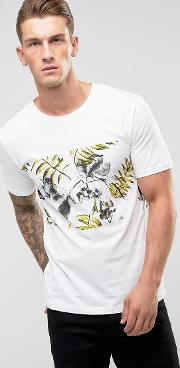 Only & Sons , T Shirt With Printed Panel