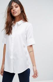 Selected , Venilla Short Sleeve Shirt