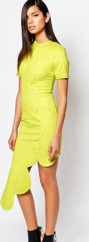 8th Sign , The Dress With Asymmetric Scallop Hem