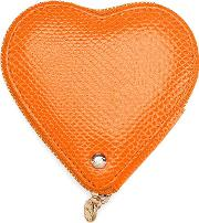 Aspinal Of London , Heart Coin Purse In Orange