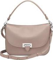 Aspinal Of London , Slouchy Saddle Bag In Soft Taupe