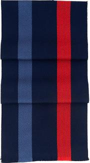 Aspinal Of London , University Stripe Pure Wool Scarf In Navy, Red, &