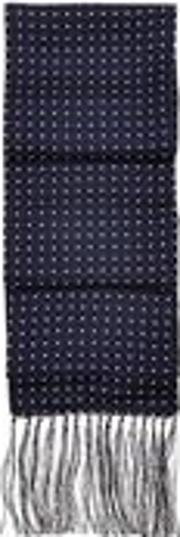 Aspinal Of London , Men's Polka Dot Silk Scarf In
