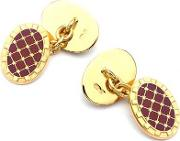 Aspinal Of London , 22ct Gold Plated & Enamel Constellation Cufflinks In