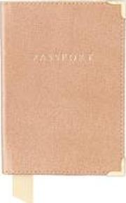 Aspinal Of London , Plain Passport Cover In Deer Saffiano & Cappuccino