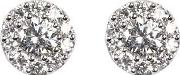 Aspinal Of London , Monaco 1.0ct Diamond Cluster Stud