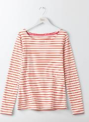 Boden , Essential Boatneck Ivory/post Box Red Women