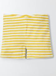 Mini Boden , Essential Jersey Shorts Mimosa/ Ivory Stripe Girls Boden