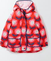 Mini Boden , Jersey Lined Anorak Rosehip Sunflower Girls Boden