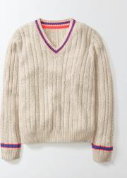 Mini Boden , Kate Jumper Ecru Marl Girls Boden