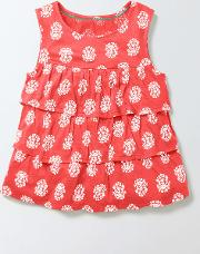 Mini Boden , Odette Vest Coral Crush/ Ivory Girls Boden