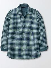 Mini Boden , Overdyed Shirt Overdyed Green Gingham Boys Boden
