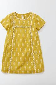 Mini Boden , Summer Kaftan Mimosa Pineapples Girls Boden