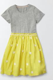 Mini Boden , Tessa Dress Grey Marl Girls Boden