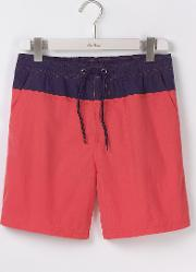 Boden , Swimshorts Soft Red Colourblock Men