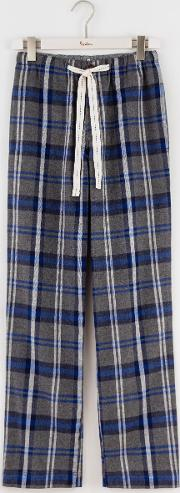 Boden , Brushed Cotton Pull Ons Grey Check Men