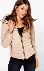 Boohoo , Crop Bubble Coat Beige