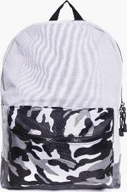 Boohoo , And Pu Mixed Camo Back Pack - Grey