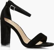 Boohoo , Block Heel Two Part Shoe - Black