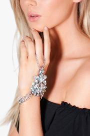 Boohoo , Boutique Diamante Hand Harness Clear