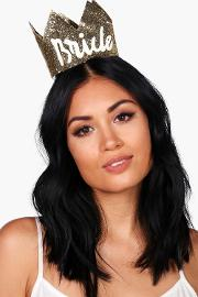Boohoo , Bride Hen Party Crown Gold