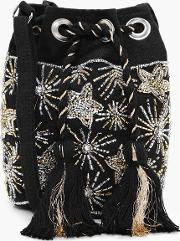 Boohoo , Embellished Star Duffle Bag - Black