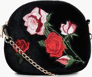 Boohoo , Embroidered Cross Body Bag - Pink