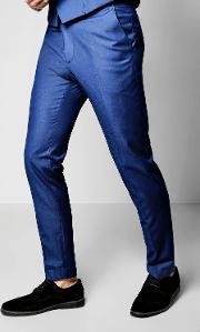 Boohoo , Fit Suit Trousers - Blue